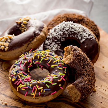 Peanut Butter and Coffee Baked Doughnuts